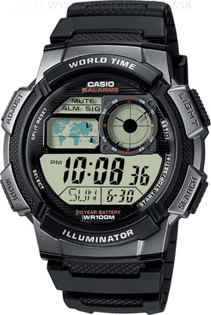 CASIO AE 1000W-1B Svetové časy na potápanie