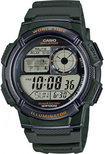 CASIO AE 1000W-3A World Time na potápanie