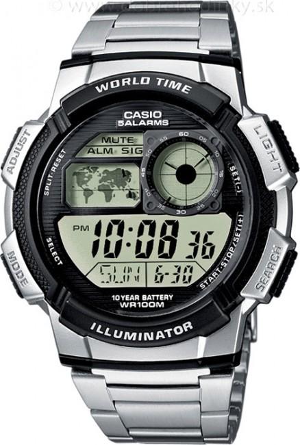 Casio AE 1000WD-1A Svetové časy na potápanie