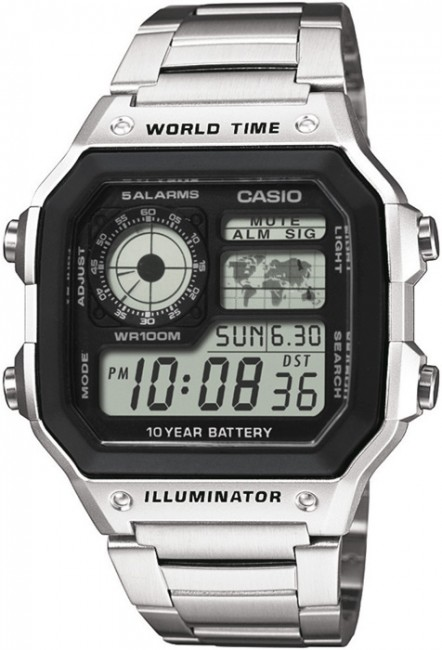 CASIO AE 1200WHD-1A Svetové časy