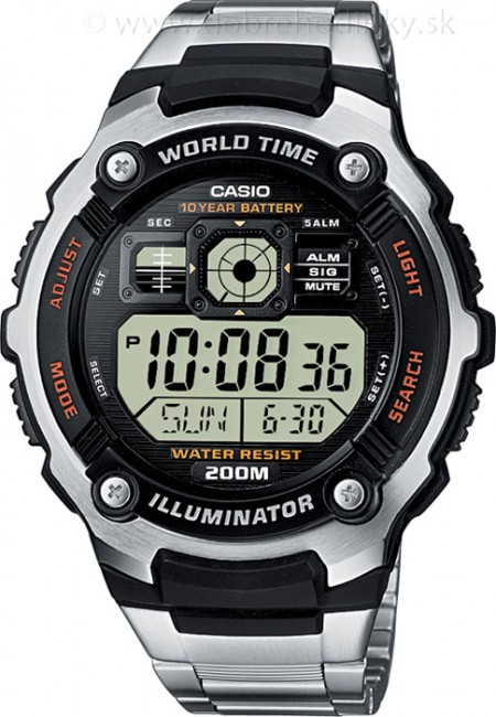 CASIO AE 2000WD-1A Svetové časy 20 ATM