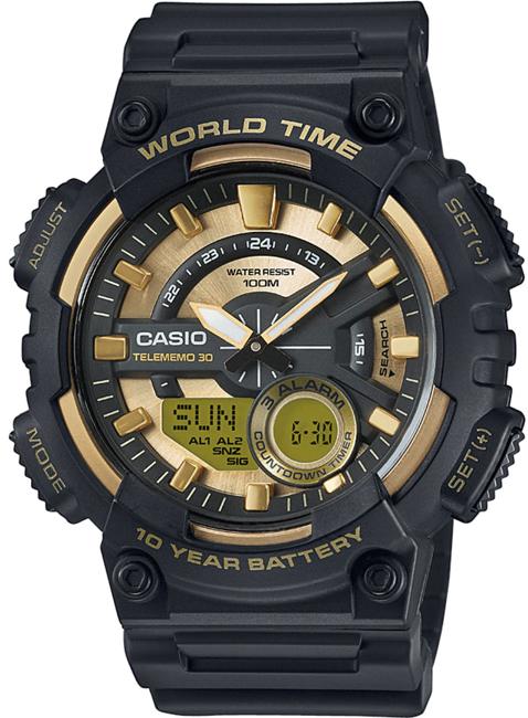 CASIO AEQ 110BW-9A Svetové časy