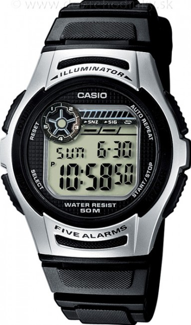 CASIO W 213-1A Collection Dual Time