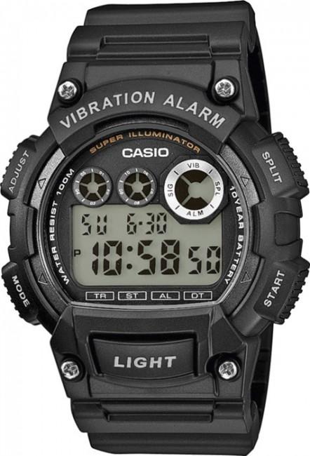 CASIO W 735H-1A Collection Dual Time Vibration Alarm 10ATM