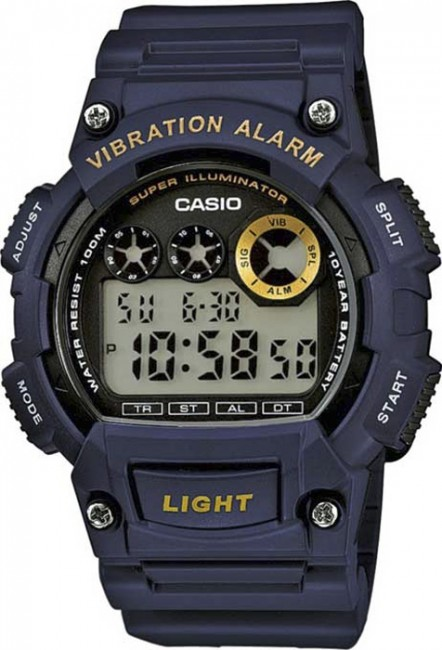 CASIO W 735H-2A Collection Dual Time Vibration Alarm na potápanie