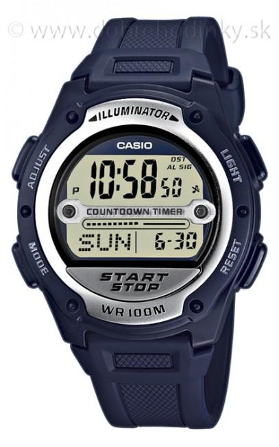 Casio W 756-2A Svetové časy Alarm na potápanie