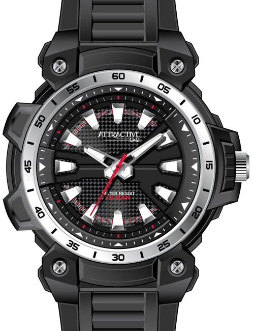Q&Q DG18J002Y ATTRACTIVE pánske hodinky 10ATM