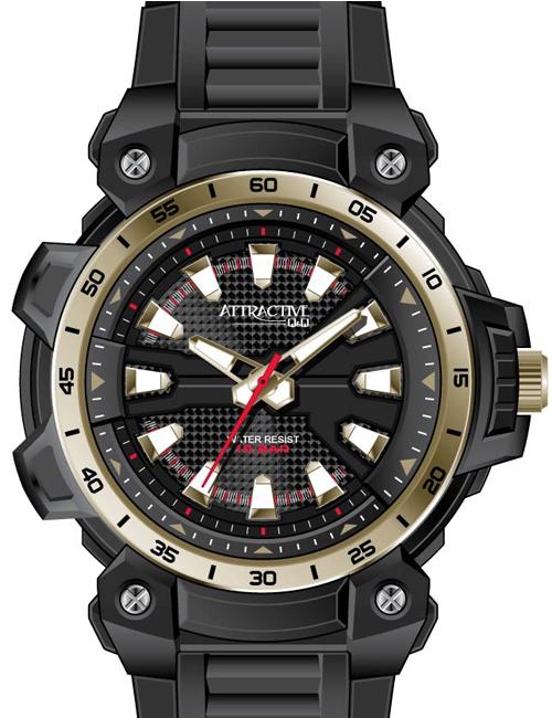 Q&Q DG18J004Y ATTRACTIVE pánske hodinky 10ATM