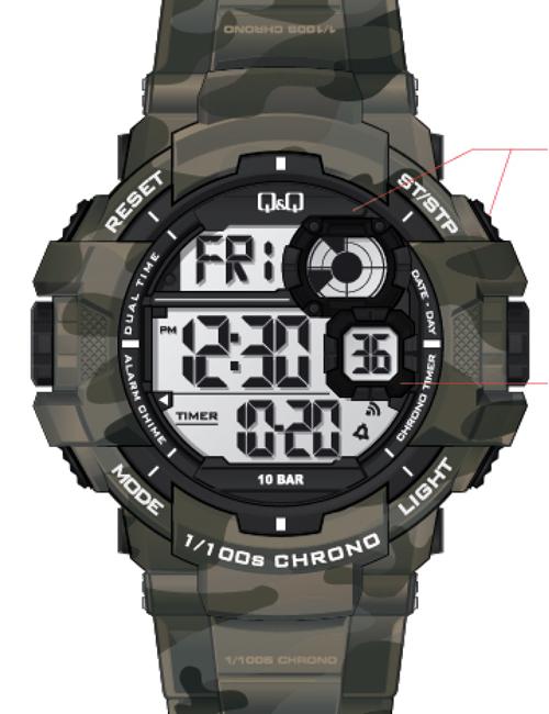Q&Q M143J003Y Chrono 10ATM