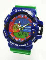 D-ZINER 112209V pánske športové hodinky 10 Bar