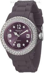 Madison New York U4101N silikónové hodinky so Swarovski crystals