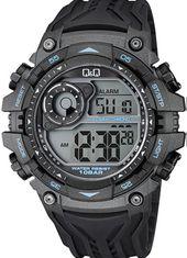 Q&Q M157J003Y Chrono Dual Time Calendar 10 ATM Alarm