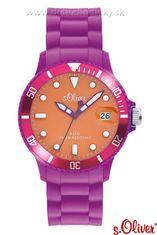 s.Oliver SO-2146-PQ silikónové hodinky