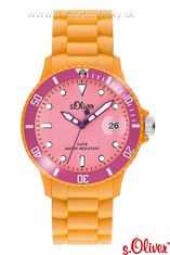 s.Oliver SO-2147-PQ silikónové hodinky