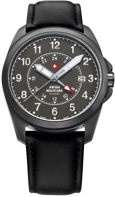 Swiss Military 29000BPL-88LBK Quartz Dual time