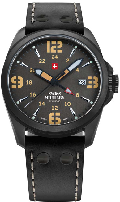 Swiss Military 29000BPL-8LBK Quartz Dual Time