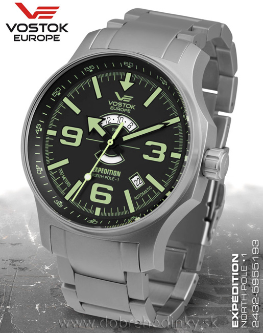 Vostok Europe 2432/5955193 B North Pole-1 Expedition Day and Night