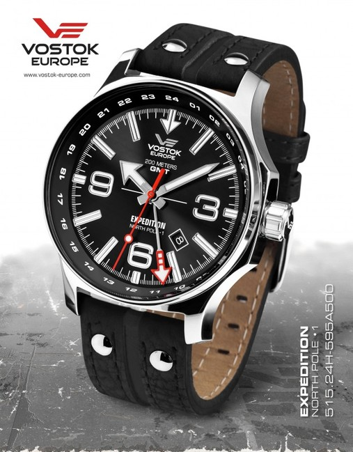 Vostok Europe 515.24H/595A500 Expedition Dual Time