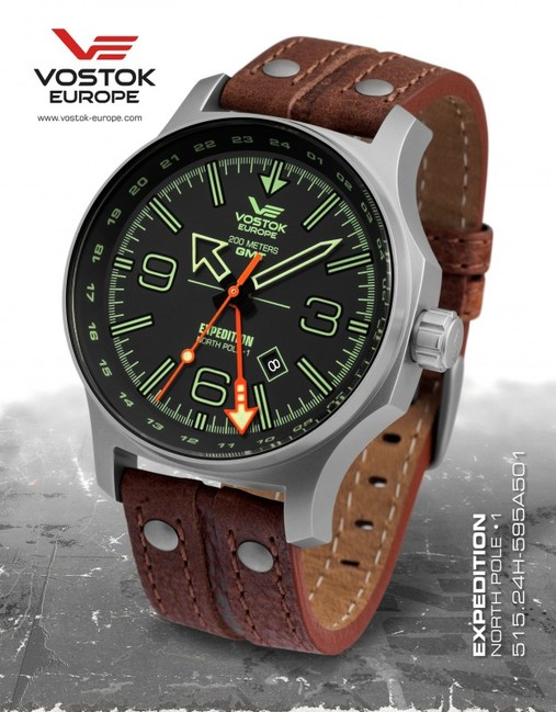 Vostok Europe 515.24H/595A501 Expedition Dual Time