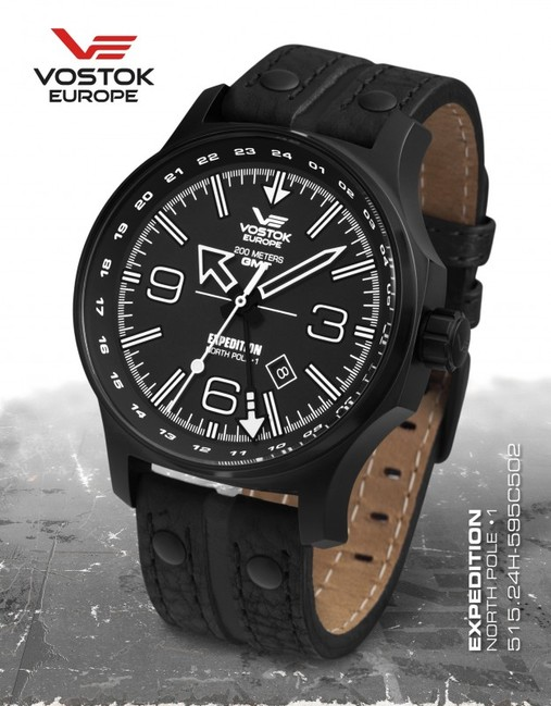 Vostok Europe 515.24H/595C502 Expedition Dual Time