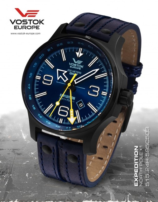 Vostok Europe 515.24H/595C503 Expedition Dual Time